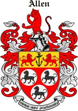 ALLIN family crest