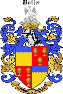 Le Boutillier family crest