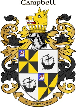 CAMPBELL family crest