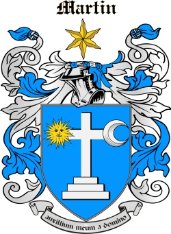 MARTYN family crest