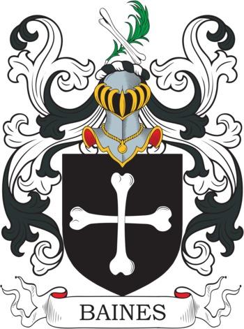BAINES family crest