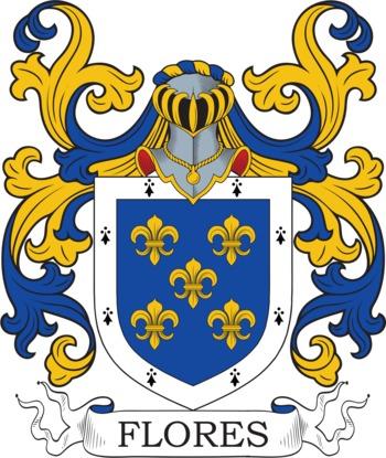 FLORES family crest