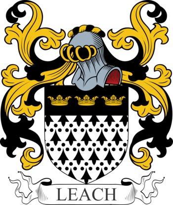 LEACH family crest