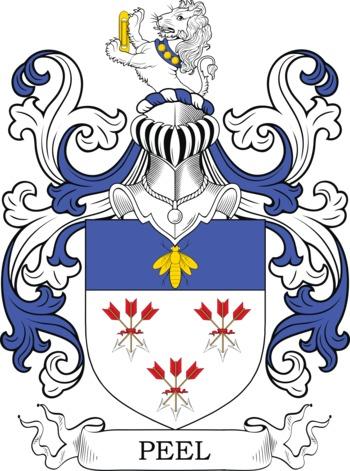 PEEL family crest