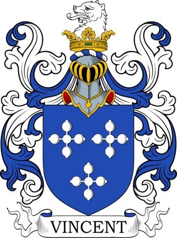 VINCENT family crest