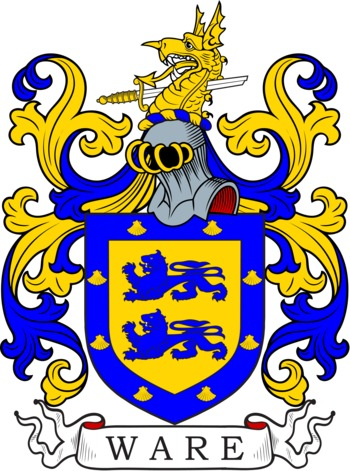 WARE family crest